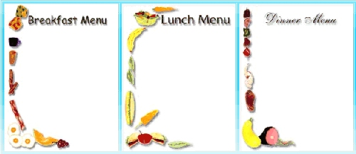breakfast menu clipart - photo #22