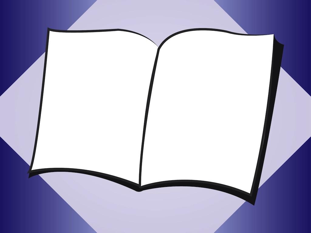 blank open book clip art clipart best