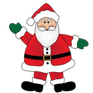 Santa Claus Clipart Image - Cute Cartoon Santa Claus