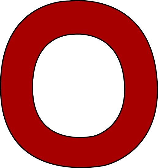 Red Letter O Clip Art - Red Letter O Image