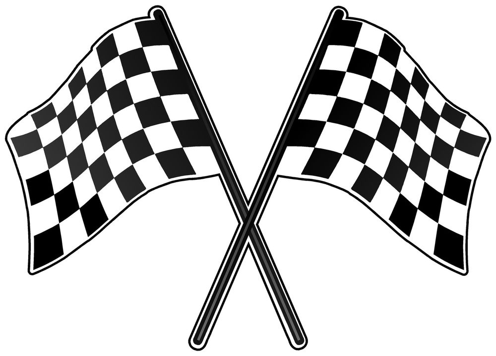 Checkered Flag Race Car