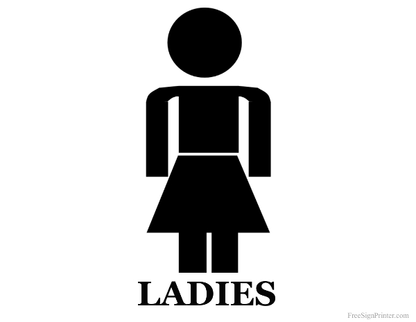 Printable Ladies Restroom Sign Clipart Best Clipart Best