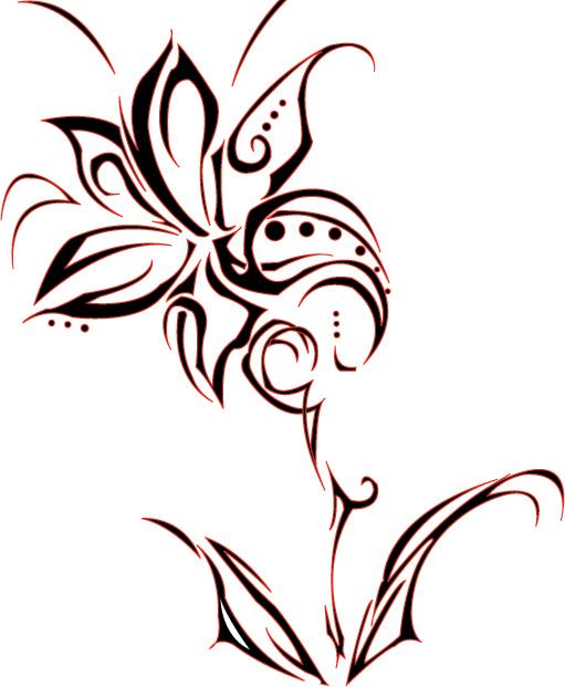 flower tribal designs clipart best. Black Bedroom Furniture Sets. Home Design Ideas