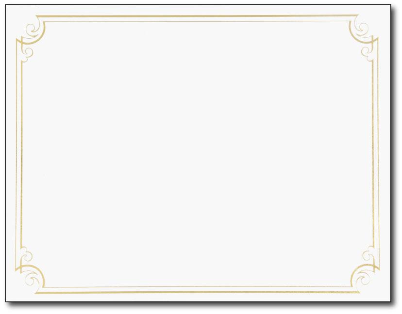 Image Shop 2011859 Golden Scroll Frame Foil Certificate- Recognition