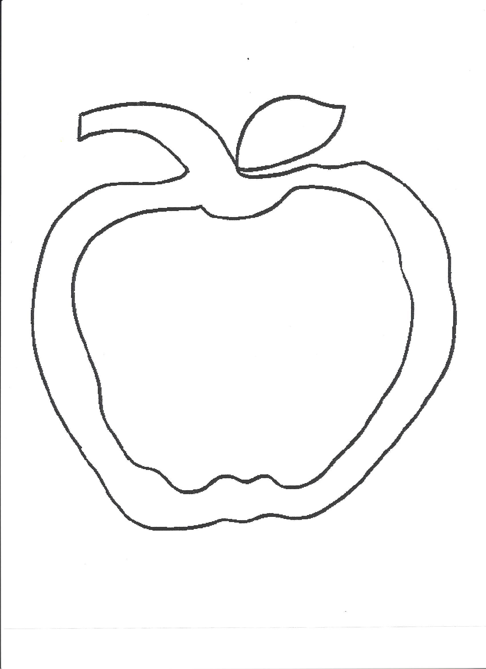 apple leaf template
