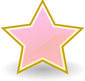Baby Pink Star clip art - vector clip art online, royalty free ...