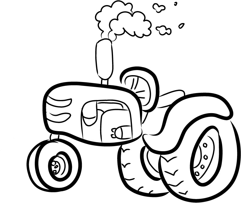 cartoon tractor images clipart best