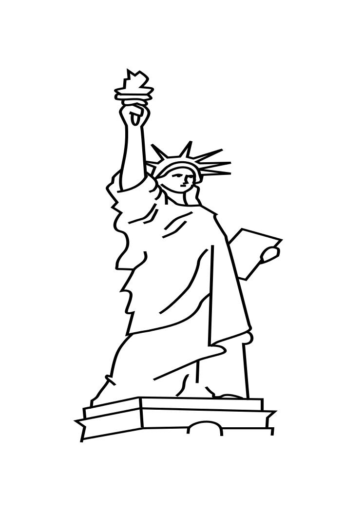 New York Statue of Liberty Coloring - ClipArt Best ...