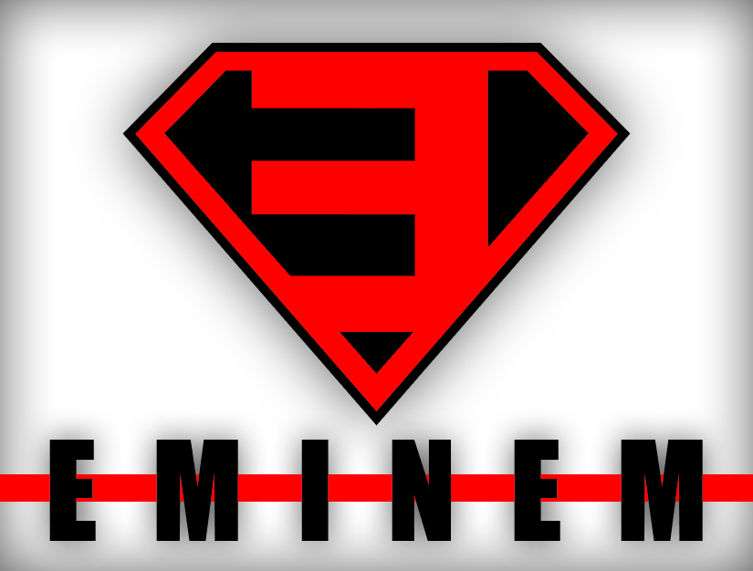 eminem superman logo over millions vectors stock photos