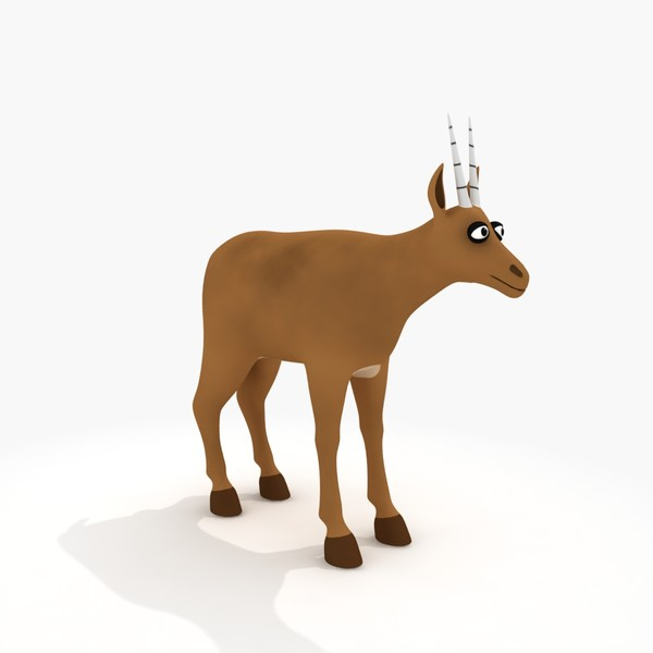 Cartoon Antelope Clipart Cartoon Antelope Rig 3d Model