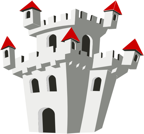 Medieval Castle clip art - vector clip art online, royalty free ...