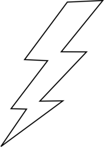 Lightning Bolt Coloring Page Clipart Best Lightning Bolt Coloring Page