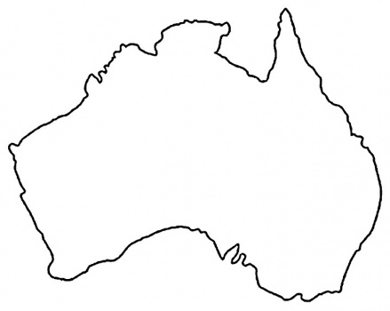 printable map of australia for kids clipart best