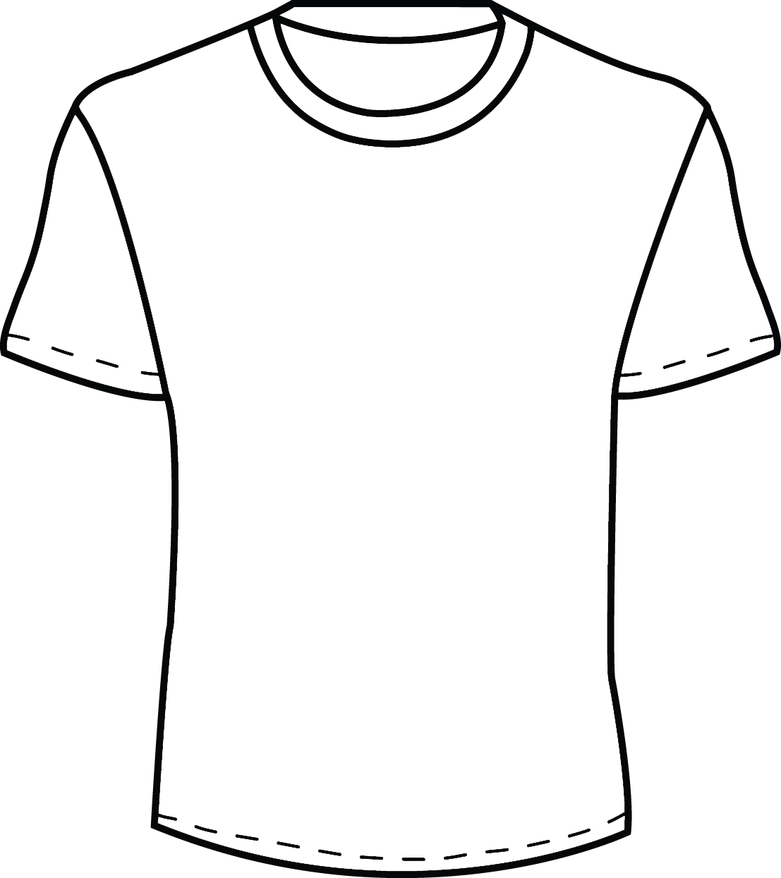 Blank T Shirt Template For Colouring   ClipArt Best ud61r3TI