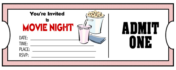 Free Printable Movie Tickets - ClipArt Best