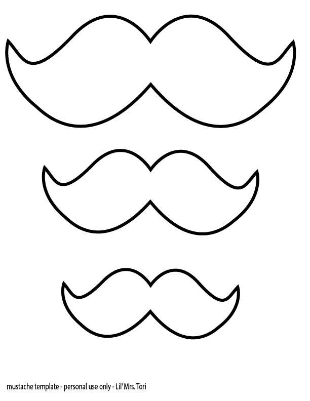 Geeky image intended for mustache template printable