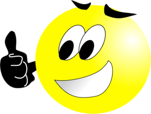 Thumbs up smiley face clip art
