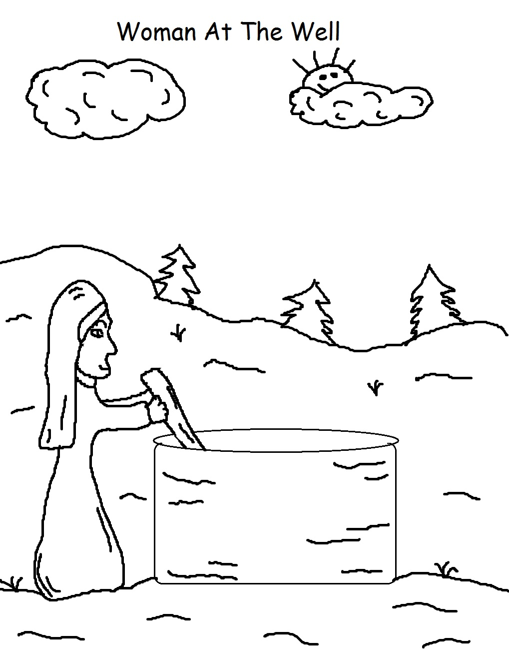 clipart jesus and the woman at the well - photo #28