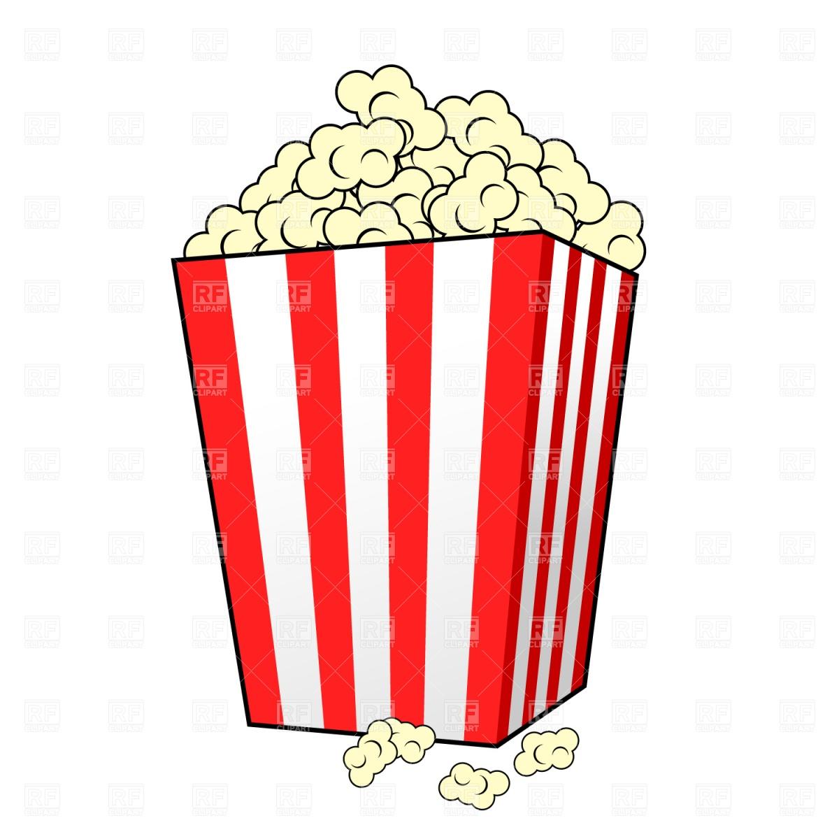 free popcorn clipart black and white - photo #24
