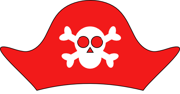 Pix For > Cartoon Pirate Hat Clip Art