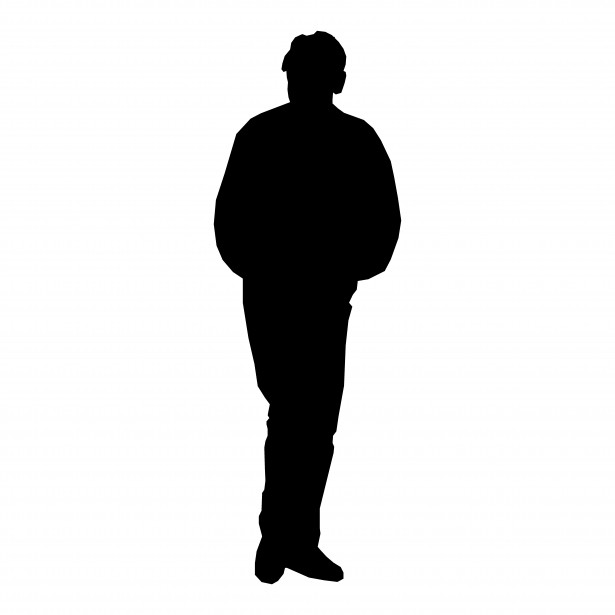Silhouette of Man Standing  Free Stock Photo  pexelscom