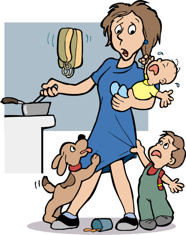 Stressed Mother Clipart