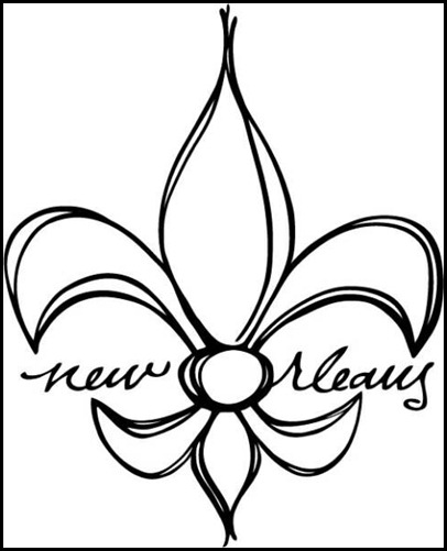 Saints Symbol Drawing The Uptown Acorn Fleur de Lis