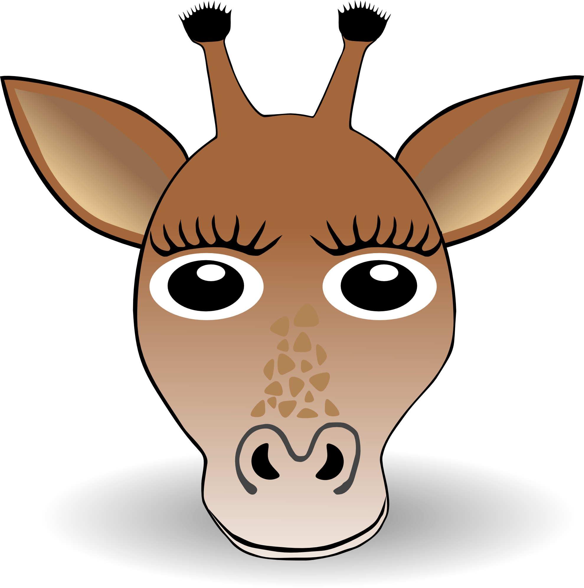 Clip Art: Giraffe 1 face Christmas Xmas Stuffed ...