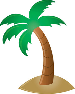 Palm Tree Clipart Image - Clip Art Illustration Of A ...