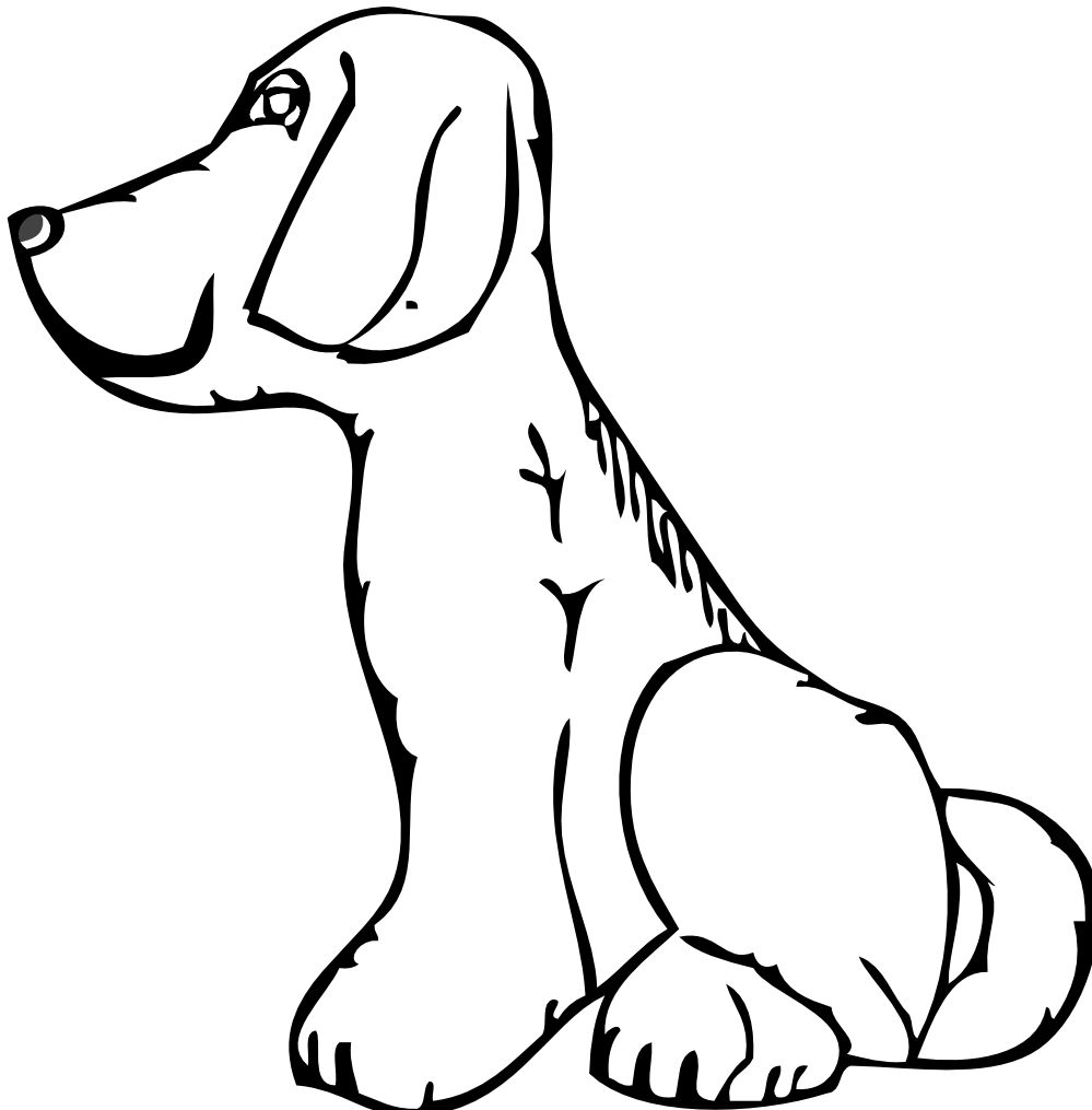 Line Drawing Of Dog : Line drawing dog clipart best