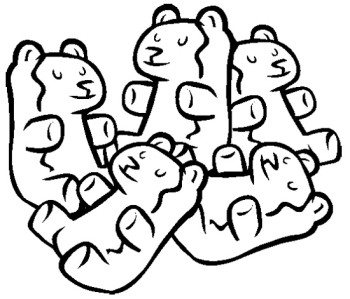 Get Coloring Sheet Gummy Bear Coloring Page