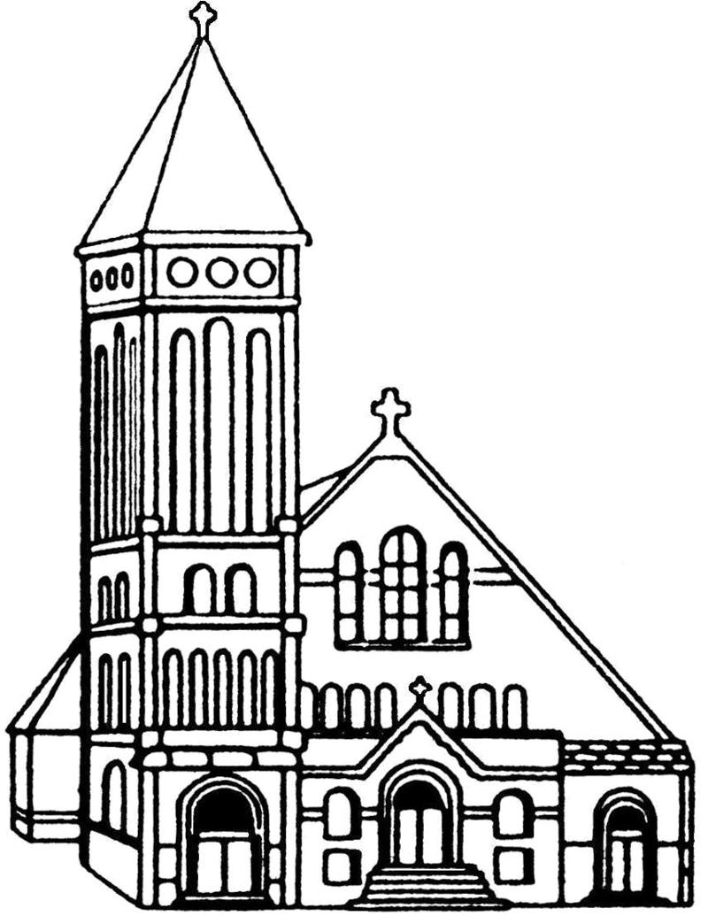 Church Line Drawing 11 Church Line Drawing