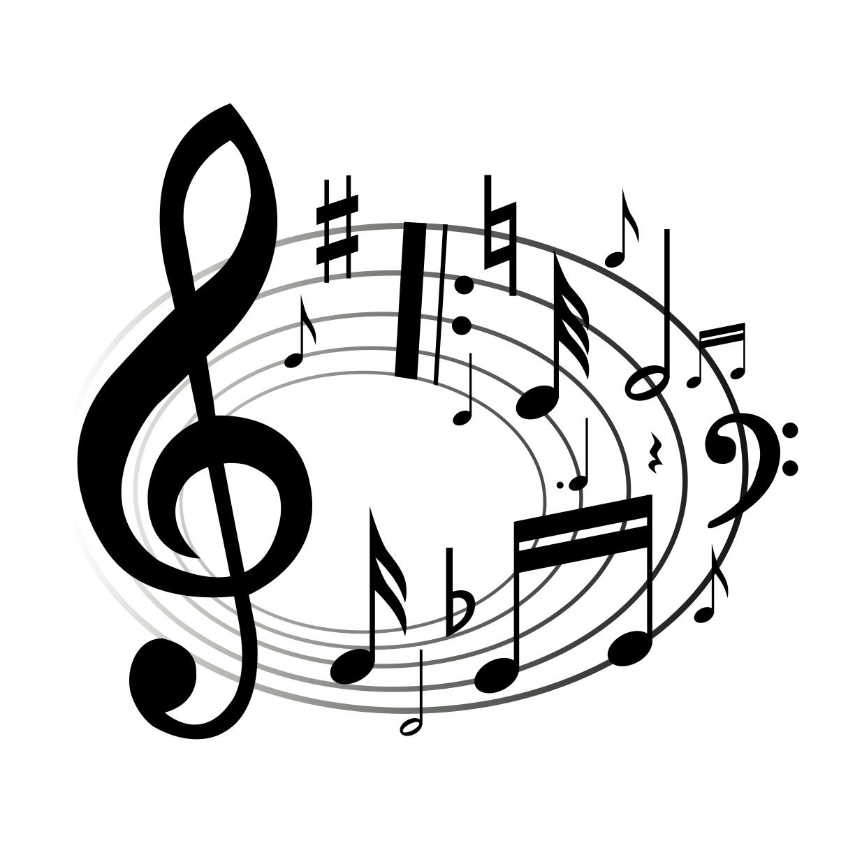 Black Musical Notes - ClipArt Best