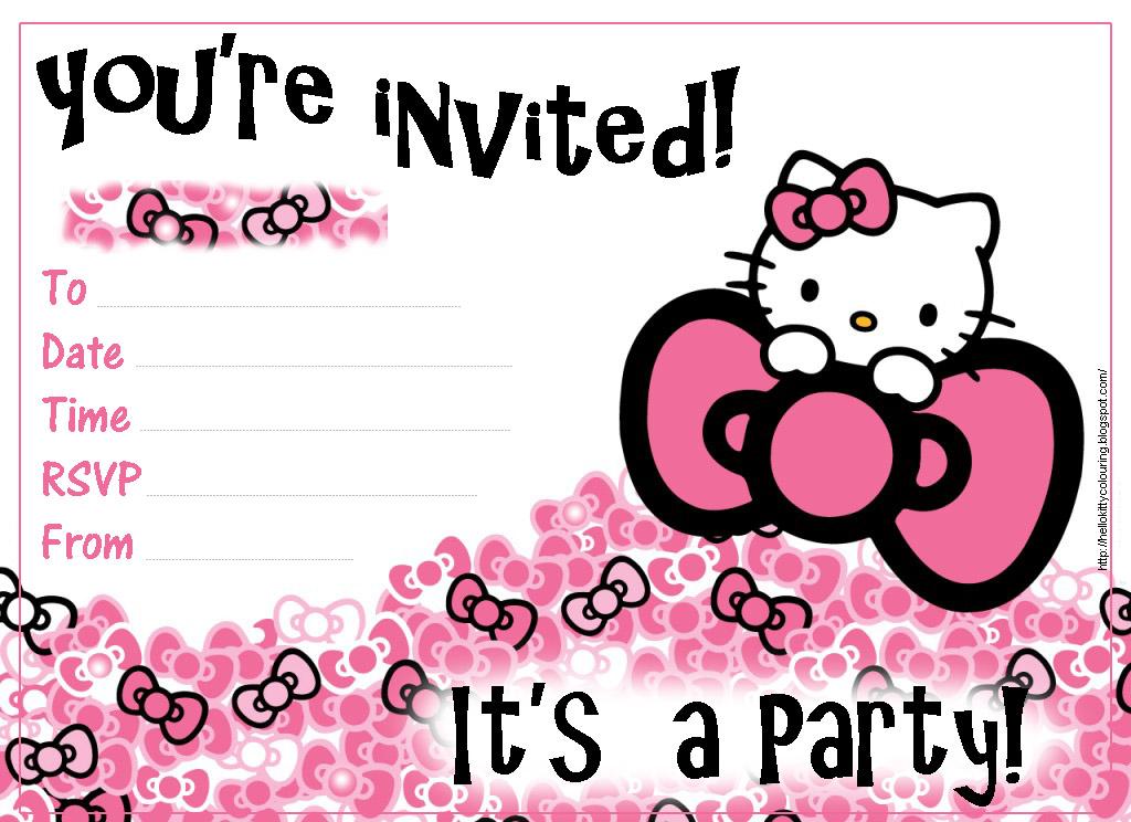 Free Hello Kitty Invitation Template | ctsfashion.com