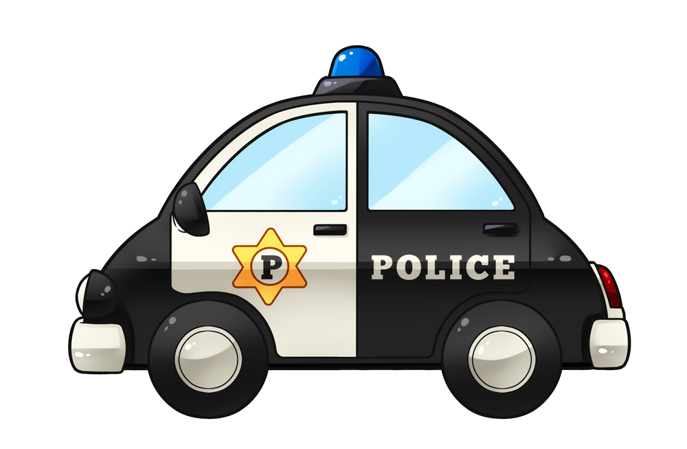 This is a picture of Intrepid Police Car Printable