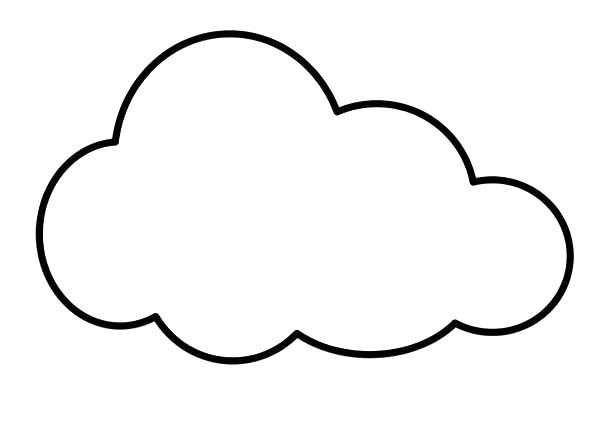 Cloud coloring pages printable clipart best for Cloud coloring page