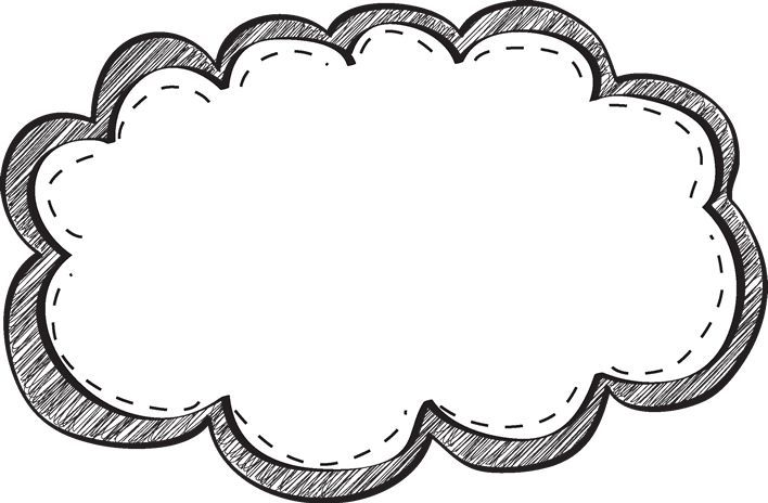 Black and white border clipart