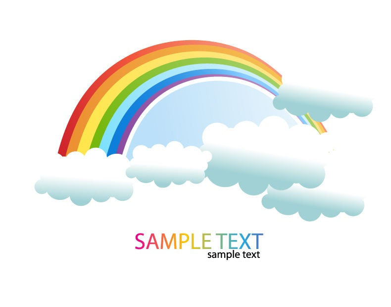 clipart rainbow with clouds - photo #10