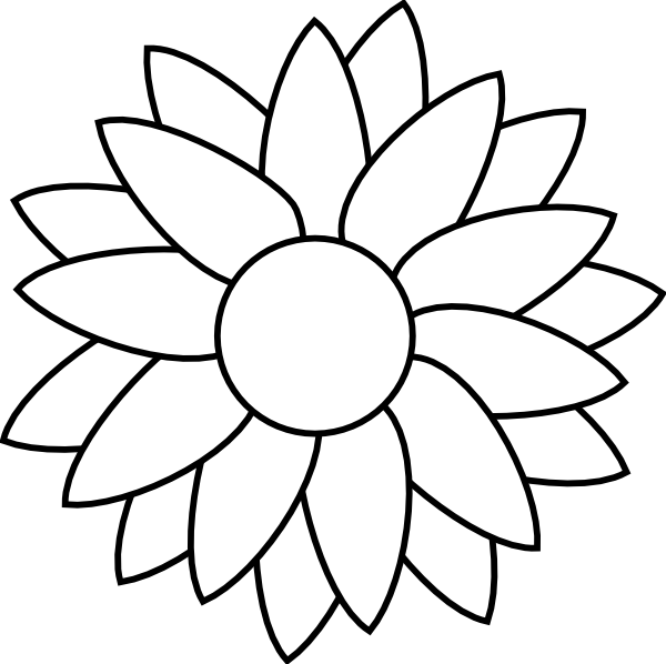 Simple sunflower template