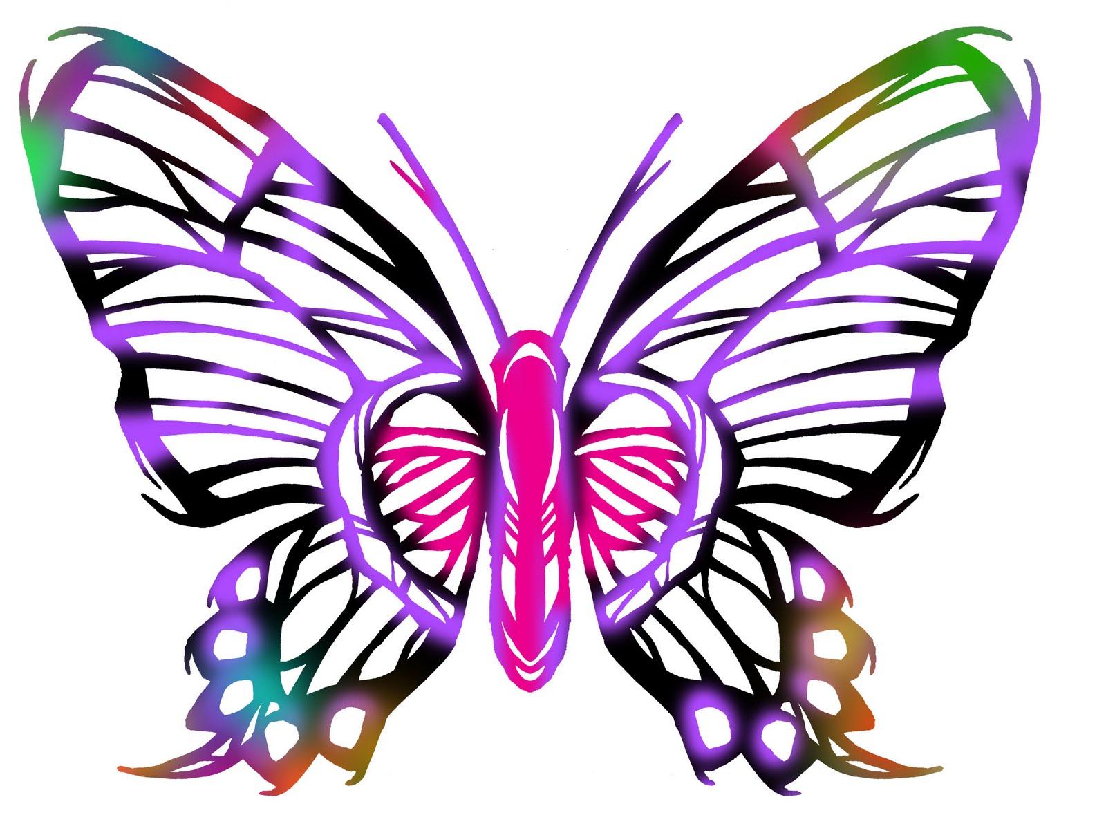 Line Art Butterfly : Butterfly line art clipart best