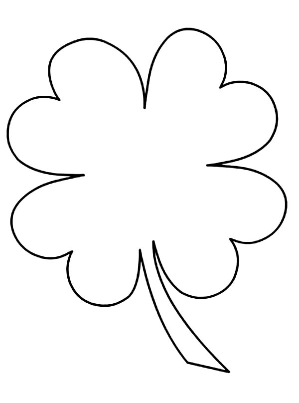 how to draw a 4 leaf clover
