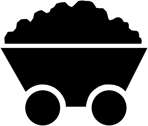 Black and white bag of coal clipart