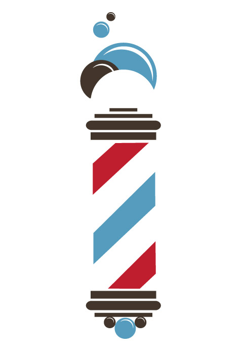 barber shop pole logo clipart best