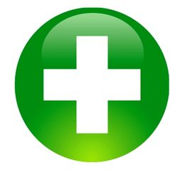 Green medical cross clipart