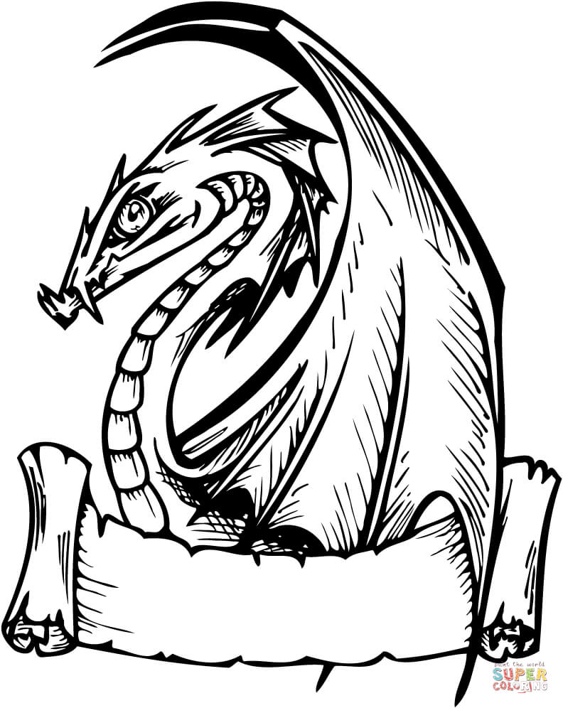 Coloring Pictures Of Scary Dragons