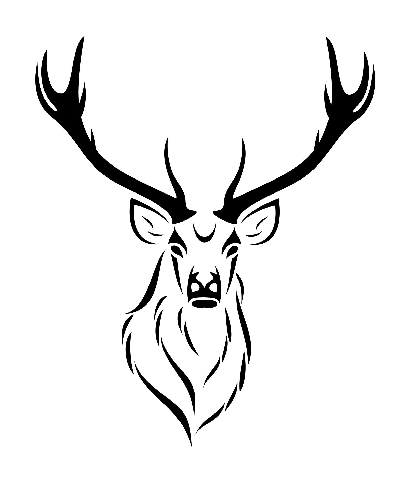 Deer Skull Stencil - ClipArt Best