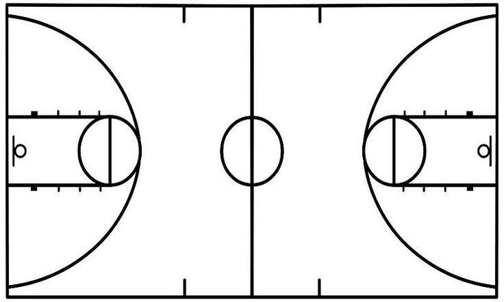 Basketball diagram template basketball court diagram for Basketball court design template