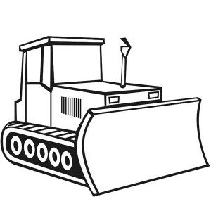 Drawing Bulldozer Coloring Page: Drawing Bulldozer Coloring Page ...