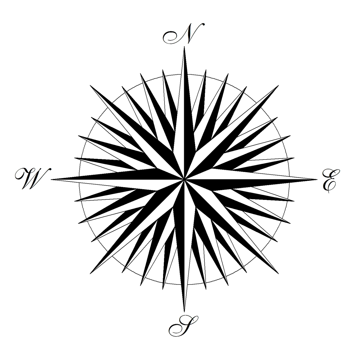 Compass Rose Drawings Clipart - Free to use Clip Art Resource