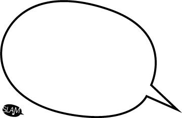 Editable speech bubble template